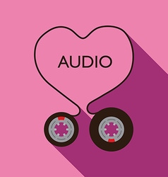 I Love Audio vector image vector image