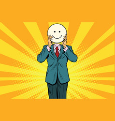 joy smile man smiley emoji face vector image