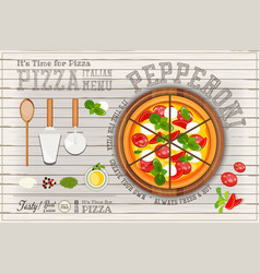 pizza pepperoni vector image vector image