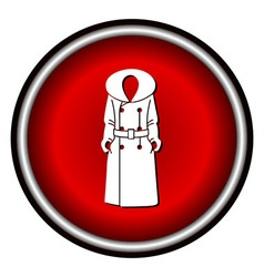 Women coat icon on white background vector image vector image