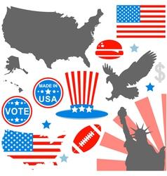 American symbols set vector image vector image