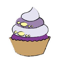 sweet cupcake dessert party celebration vector image vector image