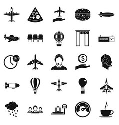 vessel icons set simple style vector image vector image