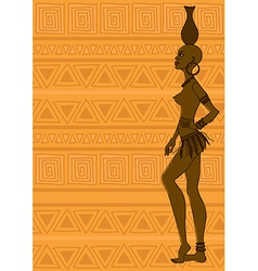 African tribal seminude girl vector image vector image
