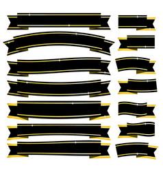 black ribbons vector image vector image