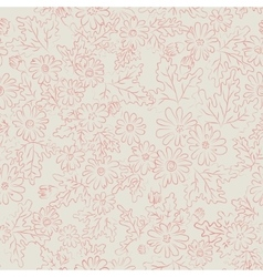 daisy background pink vector image