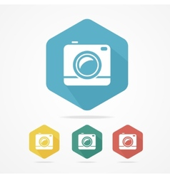 Hipster Photo or Video Camera Flat Style vector image