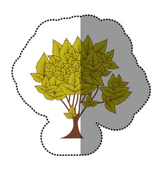 lime green natural tree icon vector image vector image