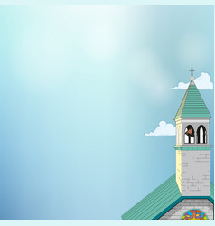 picture of a roman-catholic church vector image vector image