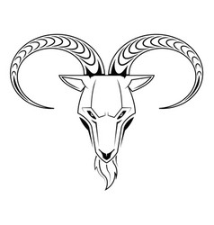 goat head isolated on white vector image