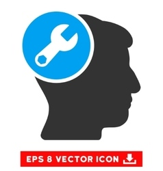 Head Wrench Repair Eps Icon vector image vector image