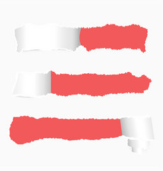 ripped paper banner design realistic torn paper vector image vector image