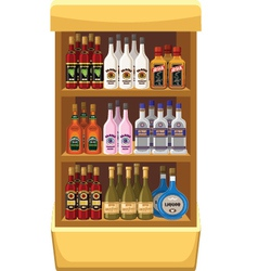 Shop alcoholic beverages vector image vector image
