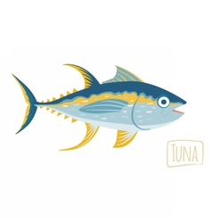 Tuna cartoon vector image