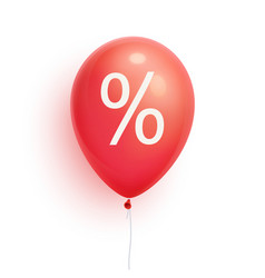 3d sale balloon with percent discount promoti vector