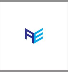 A e letter logo monochrome designa e letter vector