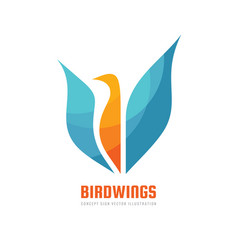 abstract bird - concept business logo template vector image