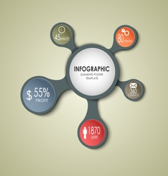 Abstract round business info graphic template vector image