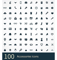 accessories icons vector image
