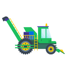 Agricultural machine tractor or combine vector