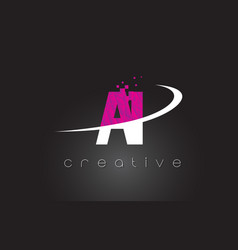 Ai a i creative letters design with white pink vector