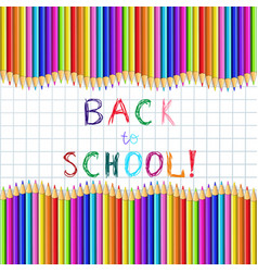 back to school sketchy inscription on notebook vector image