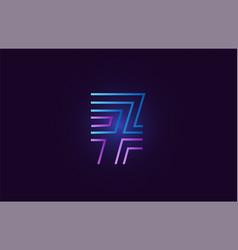blue pink 7 gradient number logo icon design vector image