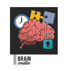 Brain creative concept icon ilustration vector
