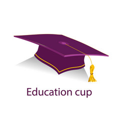 Burgyndy education cup vector