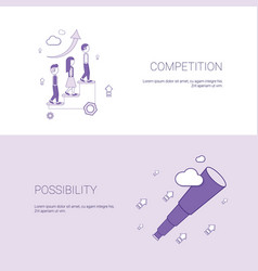Business competition and possibility for vector