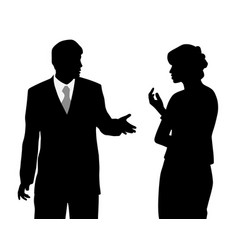 Business man and woman arguing vector