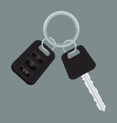 car keys with flat and solid color design vector image