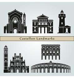 Castellon landmarks and monuments vector