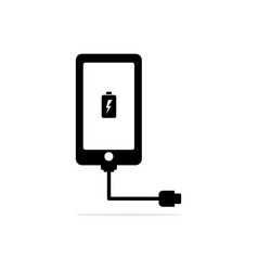 charge the phone icon concept for vector image