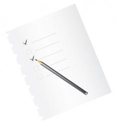 checklist with pencil vector image