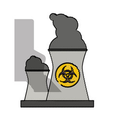 Color blurred industrial factory icon biohazard vector
