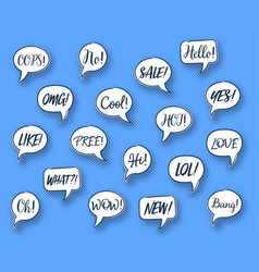 comic speech chat bubbles vector image