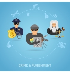 Crime and Punishment Concept vector
