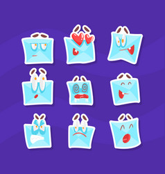 Cute envelopes characters with various emotions vector