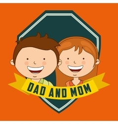 Dad and mom vector