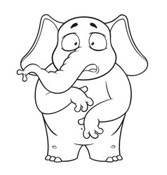 Elephant character surprised he is surprised vector
