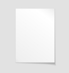 Empty sheet of paper template vector image