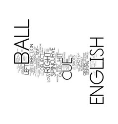 English and side spin text background word cloud vector