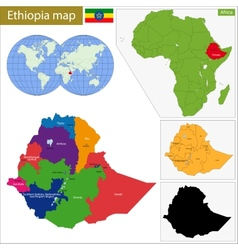 Ethiopia map vector image