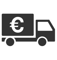 Euro shipment flat icon vector
