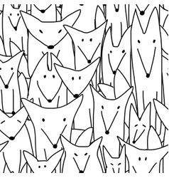foxes family seamless coloring pattern for your vector image