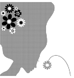 Girl with a flower vector