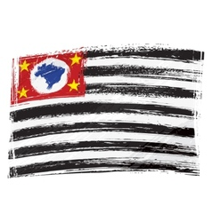 Grunge Sao Paulo flag vector