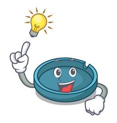 have an idea ashtray mascot cartoon style vector image