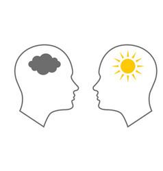 head icon for bipolar disorder vector image